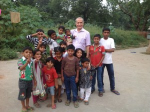Company President John Feizy with children of YP Foundation